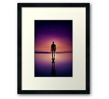 sunset man Framed Print