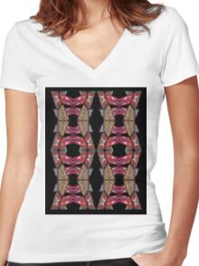 Twin Totem © Brad Michael Moore Women's Fitted V-Neck T-Shirt