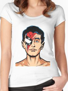 bowie spiderman Women's Fitted Scoop T-Shirt