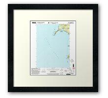 USGS TOPO Map Alaska AK Craig B-6 355278 2000 63360 Framed Print