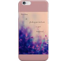 """True love is..."" a gift from the heart iPhone Case/Skin"