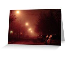 12:01, it's foggy, it's beautiful Greeting Card