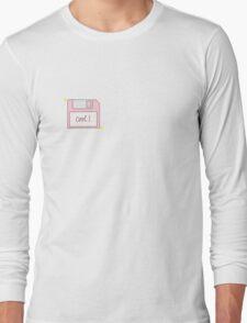 Pink Floppy Disk Long Sleeve T-Shirt