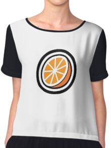 Orange Chiffon Top