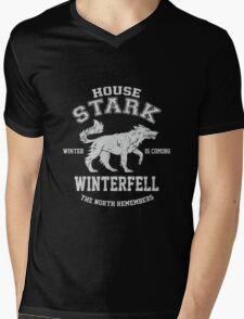 Game of Thrones Stark Mens V-Neck T-Shirt