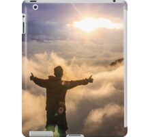 hiker celebrating iPad Case/Skin