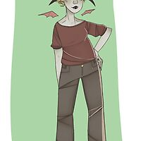 4 Horned Goat Lady by plantqueen