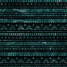 Aztec Black Tinsel Blue by rapplatt