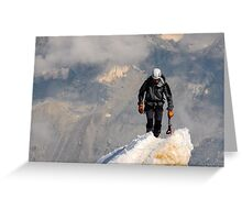 Mountaineer summit Greeting Card