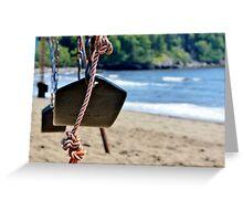 Seaside Swing Greeting Card
