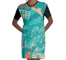 Street View Graphic T-Shirt Dress