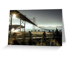 Sunrise under a bridge Greeting Card