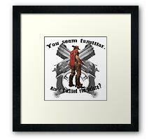 Guns. Framed Print