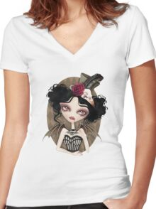 Countess Nocturne Women's Fitted V-Neck T-Shirt