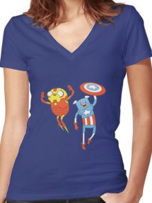 HEROES! Women's Fitted V-Neck T-Shirt