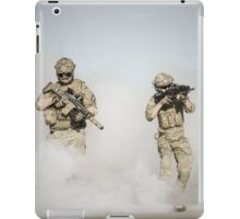soldier walk aout from somke  iPad Case/Skin