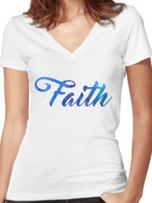 Faith Women's Fitted V-Neck T-Shirt