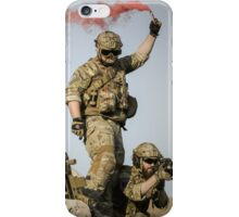 red somke from soldiers in front line  iPhone Case/Skin