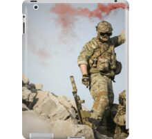 red somke from soldiers in front line  iPad Case/Skin