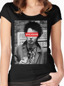 SID VICIOUS (SEX PISTOLS) - OBEY Women's Fitted Scoop T-Shirt