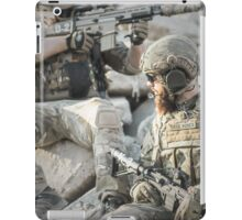 Two soldiers shielded the front lines iPad Case/Skin