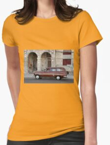 Old American car in La Habana, Cuba Womens Fitted T-Shirt