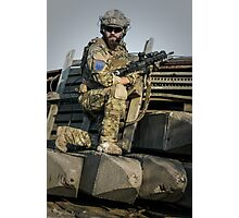 soldier shielded the front line Photographic Print