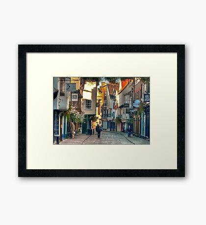 Stonegate - York,England,UK Framed Print