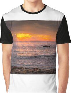 Evening sunset at sea Graphic T-Shirt
