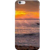 Evening sunset at sea iPhone Case/Skin