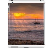 Evening sunset at sea iPad Case/Skin