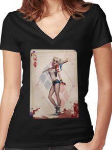 Harley Quinn Women's Fitted V-Neck T-Shirt