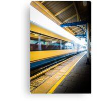 The train leaving platform . . . . .  Canvas Print