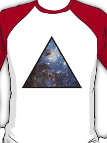 Blue Galaxy Triangle T-Shirt