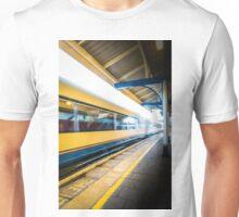 The train leaving platform . . . . .  Unisex T-Shirt