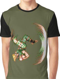 Guile Flash Kick Graphic T-Shirt