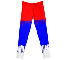 Dripping Red and Blue Paint Leggings