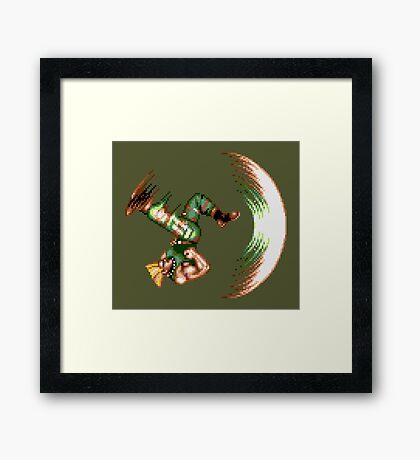 Guile Flash Kick Framed Print