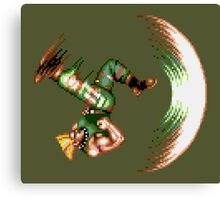 Guile Flash Kick Canvas Print