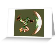 Guile Flash Kick Greeting Card