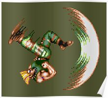 Guile Flash Kick Poster