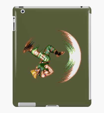 Guile Flash Kick iPad Case/Skin
