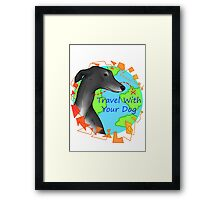 Travel With Your Dog Framed Print