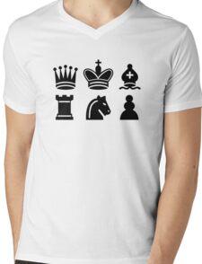 Chess game Mens V-Neck T-Shirt