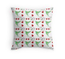 Custom Butterfly, Hummingbird and Ladybug Pattern Throw Pillow