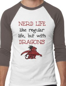 Nerd Life Men's Baseball ¾ T-Shirt