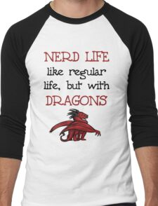 Nerd Life Men's Baseball ¾ T-Shirt