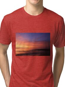 Sunrise in Sheboygan, Wisconsin Tri-blend T-Shirt