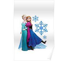 Frozen - Elsa and Anna Design Poster
