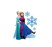 Frozen - Elsa and Anna Design Photographic Print